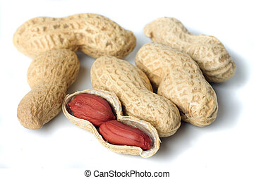 Peanut shells isolated on white - Peanut shells isolated on...