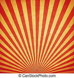sunburst retro background and duplicate grunge texture