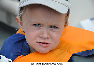 boating baby 2 - a cute little boy takes a boatride