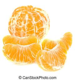 Orane mandarin - Orange peeled mandarin and slices without...