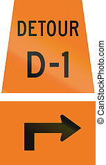 Detour D-1 Left Right Ahead in Canada - Canadian temporary...