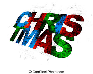 Holiday concept: Christmas on Digital background - Holiday...