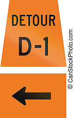Detour D-1 Left Turn in Canada - Canadian temporary road...