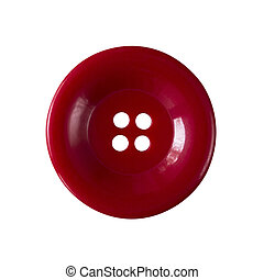 Red button isolated on a white background