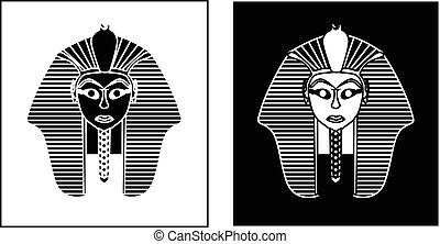 golden pharaoh - Egyptian style golden pharaoh portrait...