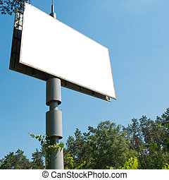 Blank billboard with empty space for advertising isolated on...