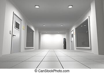 Corridor - 3d rendering of an interior scene of an empty...
