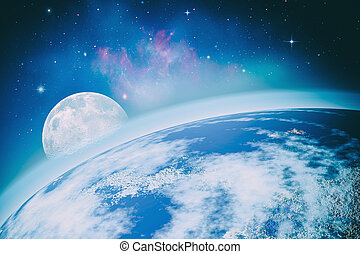 Far away Universe Abstract science backgrounds NASA imagery...