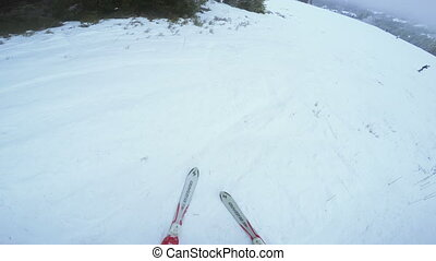 Fallen woman - After skiing woman fell and crying
