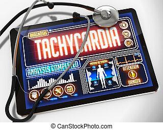 Tachycardia on the Display of Medical Tablet. - Tachycardia...