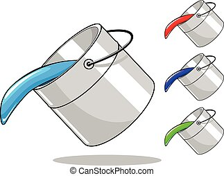 Vector bucket with paint