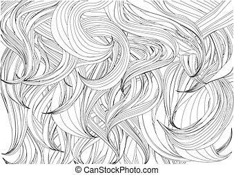 hair background. abstract woman's hair on white background