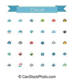 Cloud Flat Icons