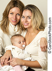 Three Generation Family - Three Generation family, mother,...