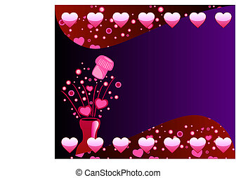 Valentine Champagne Background 2