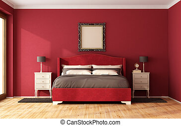 Red Classic Bedroom