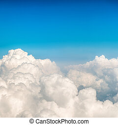 Blue clouds and sky - Blue fluffy clouds and sky. Natural...