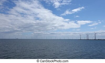 Wind Turbine Park in the Sea
