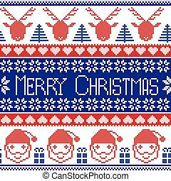 reindeer santa claus pattern