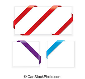 Corner Ribbons (vector)