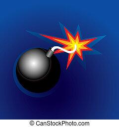 Exploding Bomb (vector)