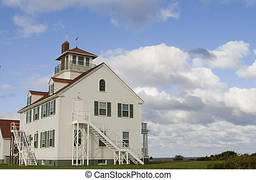 Lighthouse in Maine - lighthouse in maine against blue sky