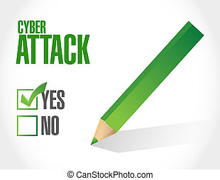 cyber attack sign concept illustration