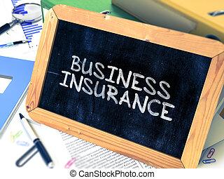 Business Insurance Handwritten on Chalkboard Composition...