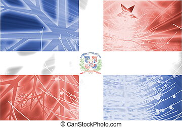 Flag of Dominican Republic christmas holidays - Flag of...