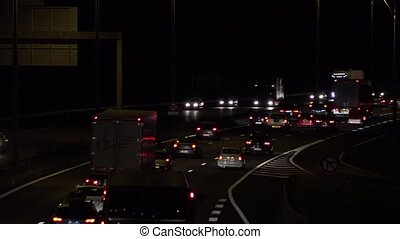 Night traffic on the ring road - Bordeaux never sleep
