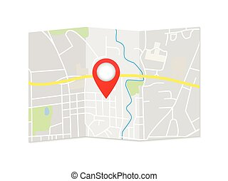 City Map Pointer Illustration