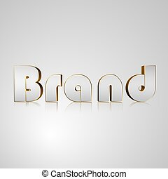 3D Text Brand - 3d text for business and website design With...