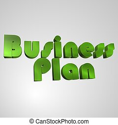 3D Text Business Plan - 3d text for business and website...