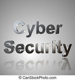 3D Text Cyber Security - 3d text for business and website...