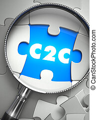 C2C - Puzzle with Missing Piece through Loupe - C2C - Client...