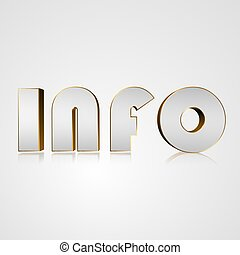 3D Text info - 3d text for business and website design. With...