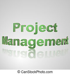 3D Text Project Management - 3d text for business and...