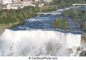 Niagara Falls with view on American side - Bridal Veil falls...