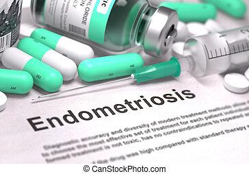 diagnóstico, médico,  Endometriosis, concepto