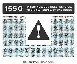 Warning Icon and More Interface, Business, Tools, People,...