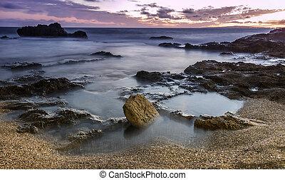 majorca beach - summer sunset in majorca beach, spain