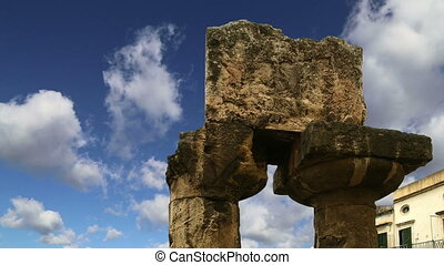 Ancient Greek APOLLO TEMPLE. Syracuse (Siracusa, Sarausa)--...