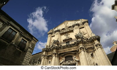 church of Catania Sicily, Italy - Catholic church of Catania...