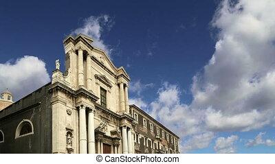 church of Catania. Sicily, Italy.