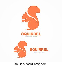 Set of squirrel vector logo - Vector logo or icon design...