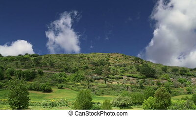 mountain valley in Sicily, Italy - A typical landscape of a...