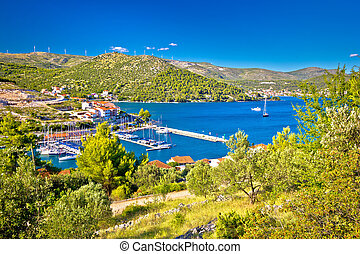 Village of Marina bay view, Dalmatia, Croatia