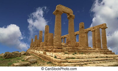Ancient Greek Temple of Juno V-VI century BC, Valley of the...