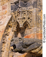 Intricate carvings of Rosslyn chapel, Scotland - Intricate...