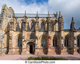 Rosslyn chapel, Scotland - Ornate Rosslyn chapel in...